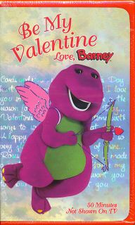 Be My Valentine. Love, Barney   SEALED VHS   15 Songs   Learn About