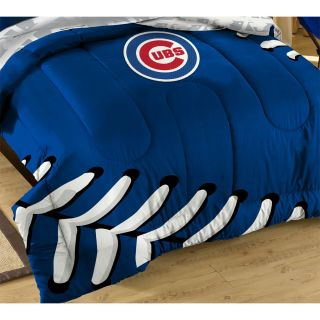 3pc MLB Chicago Cubs Baseball Twin Full Bedding Set Laces Comforter