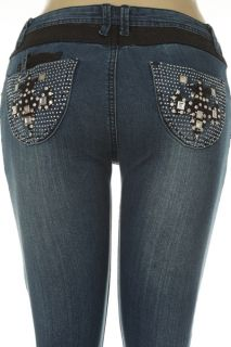 Plus Size Womens Rhinestone Studded Jeans Beautiful and Stunning One
