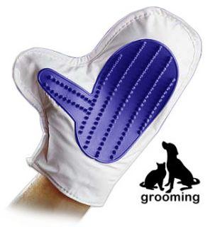 Pet Grooming Bath Glove Love Comb Brush Dog Cat Bathing Spa Scrub Mitt