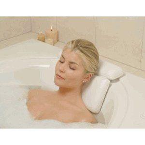 Comfort LARGE white vinyl & FOAM relaxing NECK spa BATH Pillow Hot TUB