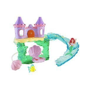 Disney Princess Ariel Bath Castle W Ariel Flounder Bath Toy New