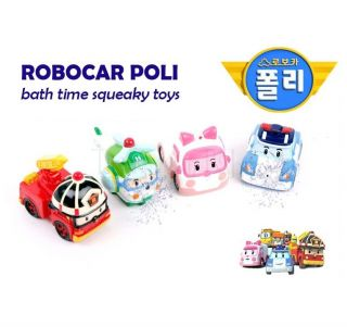 Robocar Poli Bath Toys Squeezy Watergun Free SHIP