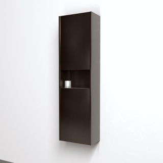 Sarah Wall Mounted Bathroom Storage Cabinet in Espresso