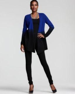 Studio New Blue Black DIP Dye Basic Cardigan Sweater Top M BHFO
