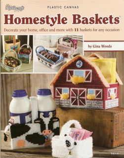 Homestyle Baskets Plastic Canvas Patterns Barn Cow Lamb
