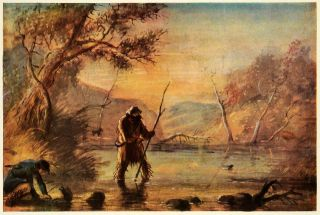 Wild West Stream Trapping Hunting Beaver Alfred Miller River Trap Art