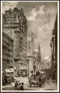 1910 New York City Street Scene from C Cooper Painting