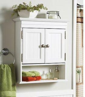 white spacesaver cabinet bathroom bath room toilet storage