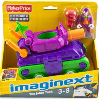 Batman Imaginext The Joker Tank Toy Vehicle Figure DC Super Friends