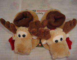 NEW BABY DEER CHRISTMAS 3 6 MO BOY GIRL BOOTIES BROWN REENDER WARM