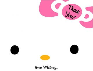 24 Hello Kitty Baby Shower Thank You Cards
