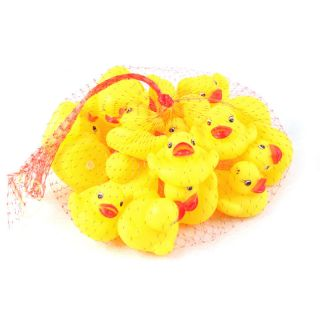 Lot 20 Baby Bath Toys Rubber Race Ducks Yellow 5cm