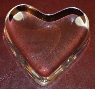 Baccarat Crystal Art Glass Heart Paperweight