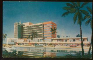 Algiers Hotel Vintage Miami Beach FL Florida Postcard