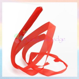 Rhythmic Gymnastic Ballet Dance Ribbon Streamer Rod Baton Twirling Red