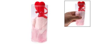 bath hand face pink cotton towel heart washcloth cup please note that