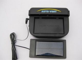 Quality 1W Solar Powered Auto Car Air Condition Cooler turbo Fan