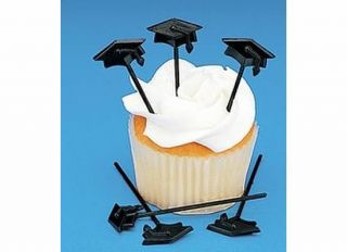 2013 Graduation Party Mortarboard Cap Baking Cups Cup Cake Pick