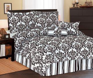 11pcs Full Beverly Microfiber Bed in A Bag Set Black