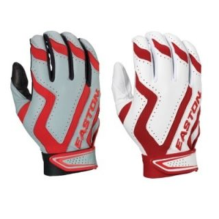 Easton Rival Home Road Batting Gloves Red Adult Medium