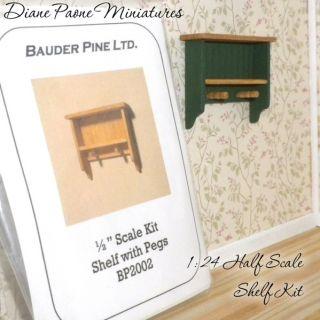24 Half Scale Wooden Shelf Kit DIY Dollhouse Miniature