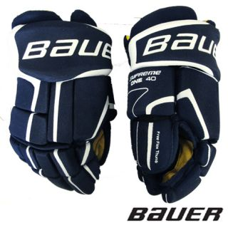 New Bauer Supreme One40 Hockey Gloves Jr Navy