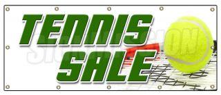 48x120 TENNIS SALE BANNER SIGN shop racquet balls shoes athletic