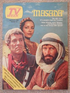 Peter OToole Peter Strauss Barbara Carrera Masada Chicago TV Guide