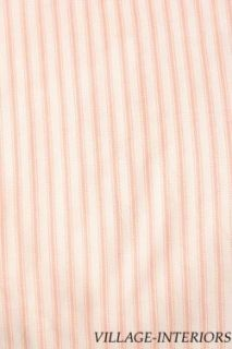 PEACH WHITE TICKING STRIPE KING BEDSKIRT  WILLIAMSBURG COLLECTION
