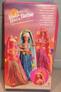 1996 Mattel Barbie Hula Hair Doll Hawaiian Gold Skirt 17047 Bikini