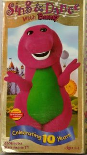 SING & DANCE with BARNEY Never seen on TV 56 Min VHS Video 1998