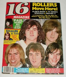 16 Magazine August 1978 Bay City Rollers KISS Andy Gibb Leif Pin ups