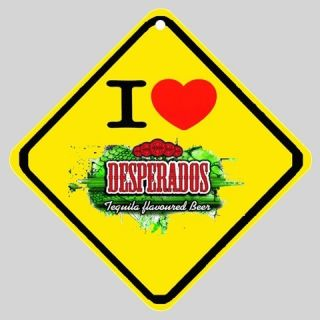 New Order  I Love Desperados Beer New Logo Car Window Sign