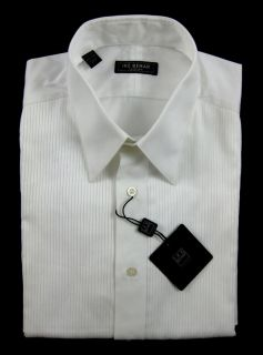 New IKE BEHAR Evening White Cotton French Cuff Tuxedo Shirt 15 5 x 33