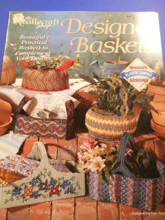 Designer Baskets Plastic Canvas Pattern by The Needlecraft Shop
