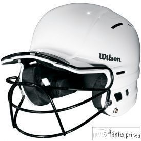 Baseball Softball Batting Helmets with Masks New Adult White