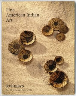 Sothebys AMERICAN INDIAN ART Auction Catalogue Baskets Pottery Weaving