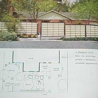 1963 MID CENTURY MODERN LANDSCAPING GARDEN PATIO DESIGN PLANS