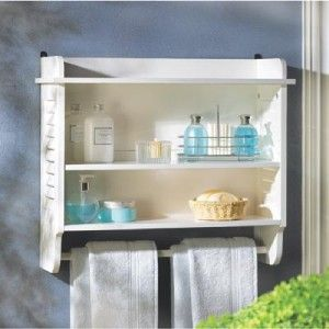 bath room wall shelf towel holder rack hanging cabinet storage shelves