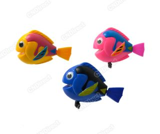 2012 Lovely Funny Wind Up Plastic Bath Toy Swimming Fish Pink Blue