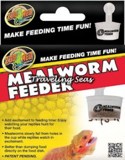 Zoo Med Hanging Reptile Mealworm Feeder Lizard Bearded Dragon
