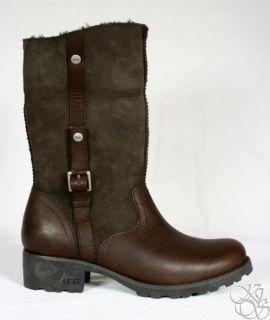 UGG Australia Bellvue II Espresso Buckle Fur Lined Womens Winter Boots