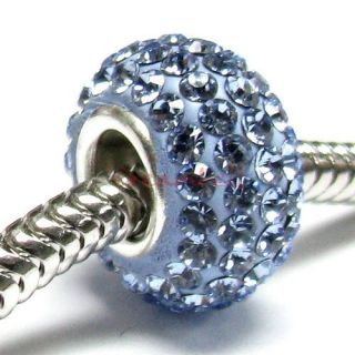 Silver Birthstone Bead F European Charm Bracelet March