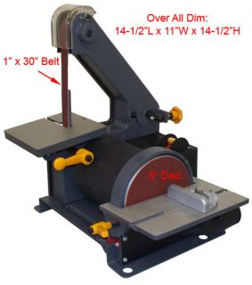 belt disc sander wood metal hobbyist 3600 rpm 0 45 º