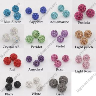 10mm Pave Disco Ball Bead Swarovski Crystal Spacer Beads DIY Findings