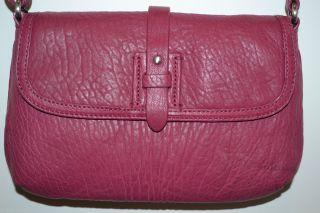 Ashlyn II Leather Crossbody Purse Satchel Beaujolais $228 New