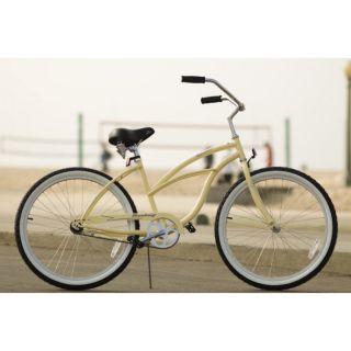 Beach Cruiser Bicycle bikes, Firmstrong URBAN 24 Womens VANILLA with