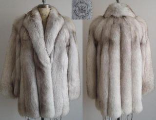 hudson s bay company blue fox jacket size 10 click any image to see it
