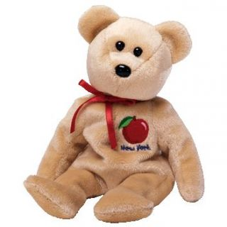 TY Beanie Baby   BIG APPLE the Bear (Show Exclusive) (8.5 inch